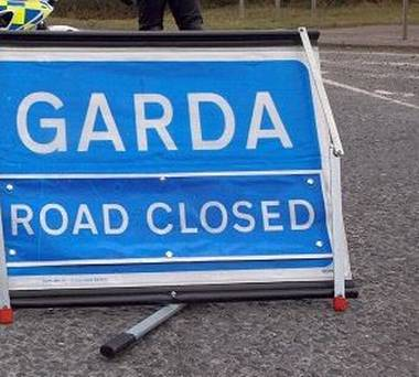 garda road sign stock