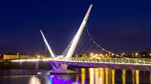 peace bridge night