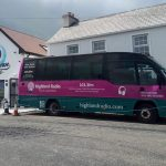 Highland Radio Bus, Outside Broadcast, Burtonport, Highland Radio, Letterkenny, Donegal