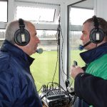 Charlie Collins interviewing Donegal Manager Brian Mc Eniff