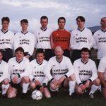 The Highland Footbal Team including John Breslin, Eunan Mc Bride, Kevin Sharkey, Ivan Boreland, Canice Wilson Andy Nutt, Tommy Rosney, Paul Mc Cafferty and Oisin Kelly