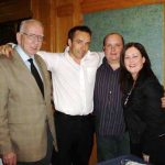 The late Don O Doherty, Martin Friel, Bernard Harper and Linda  Mc Groarty