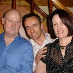 Tommy Rosney, Martin Friel and Rosemary Herritty