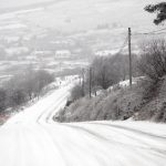 Snowy conditions in Fintown