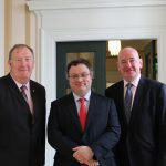 Pat Ramsey and Mark Durkan with Minister Stephen Farry.