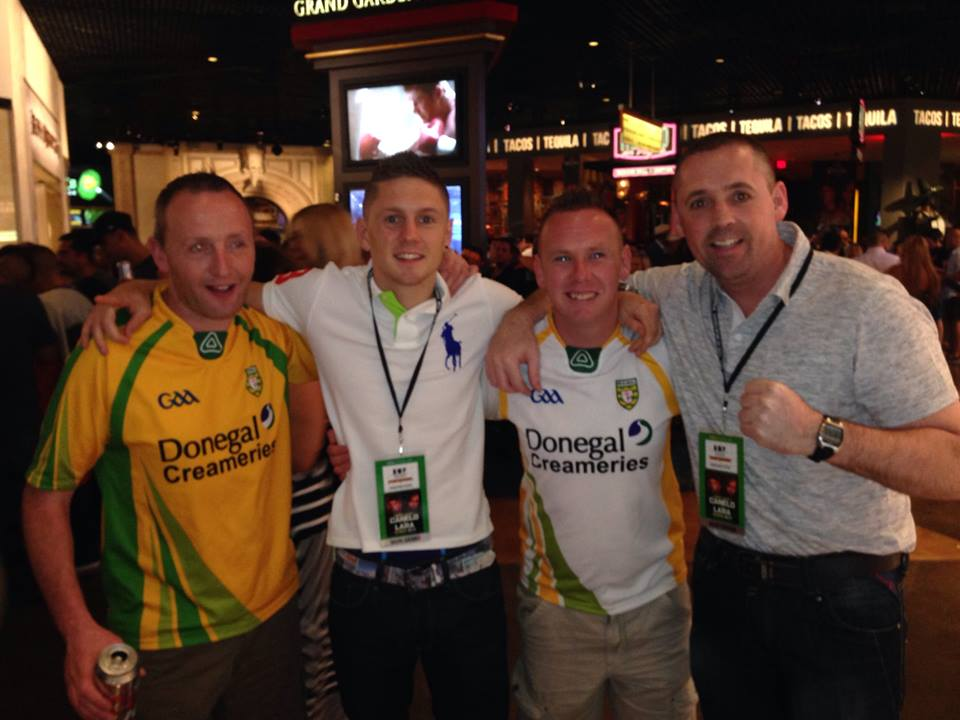 Quigley with Donegal fans