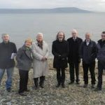 Members of the Carnagarve group with John Waters at the site.