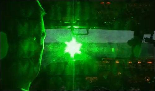 laser pointer strike