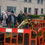 Residents block meter instasllation at Grahamsland, Castlefinn.
