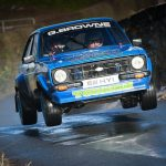 Damien Tourish who was leading the Mini Stages on Saturday morning