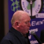 Donegal club chairman, Brian Brogan at the Minis Stage Press conference on Tuesday night.