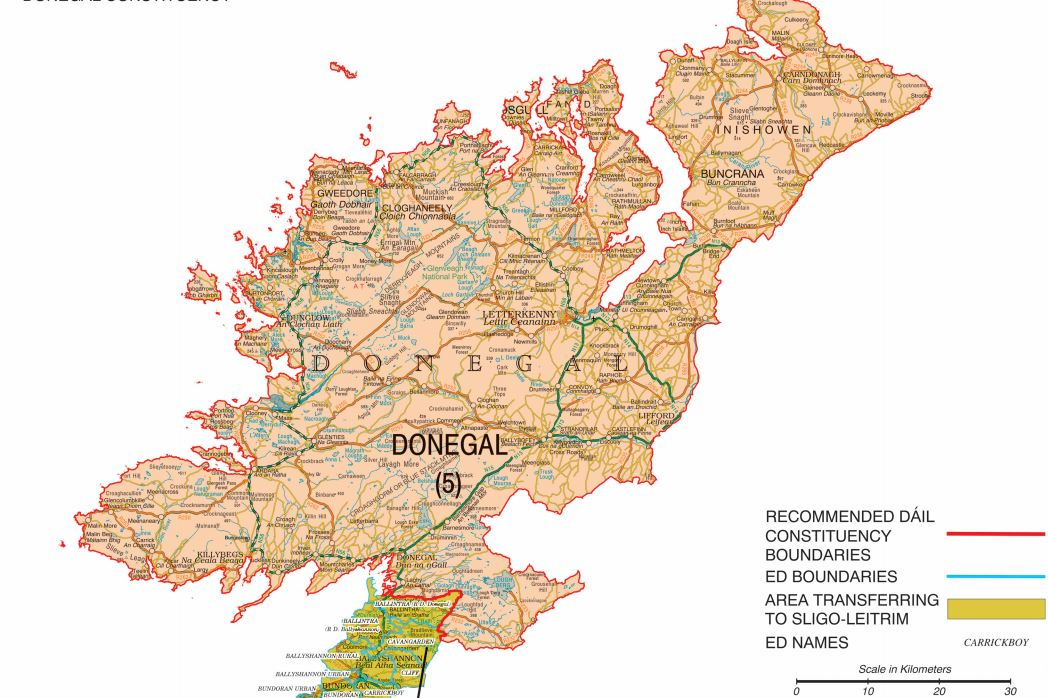 donegal constituency map