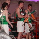 Irish and Donegal representatives  make their way into the ring at the Donegal V Boston match at the Clanree