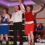 Ellis boxer Brian Elliott win his fight against Carrickmore's  Conor Gleeson. Photo Brian McDaid