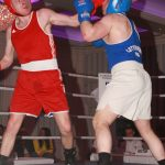 Dungloe's David  Tennyson and Carrigart's Gary Cannon Battle it out in the boxing at the Clanree. Photo Brian McDaid