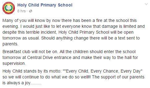 holy child statement