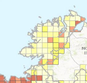 Map Of Radon Zones In Ireland.Concern At Radon Levels In Parts Of Donegal Highland Radio