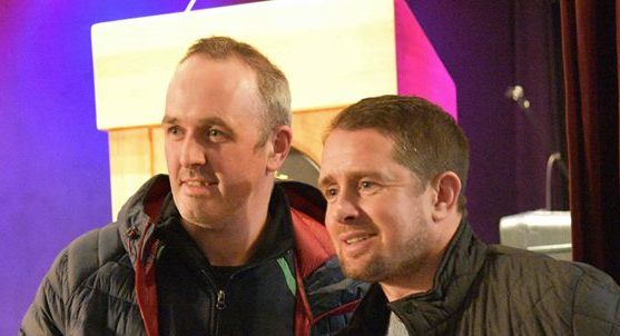 Shane Williams (left) pictured this week in Glenswilly. Photo Geraldine Diver.