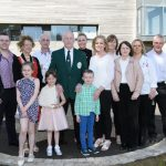 Josie Murray with his family at the special reception for Josie Murray in recognition of his achievement and contribution to Martial Arts in Donegal, Ireland and Internationally from left Dylan Murray, Stacey Lee Murray, Mrs. Murray, Michael Murray, Cahntel Louise Murray, Josie Murray, Cahrlene Murray, Dean Murray, Therese Murray, Margaret Murray, Majella Boyle Murray, Pauline Murray and Michael Boyle. Photo Clive Wasson