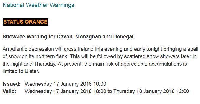 Orange warning in place for Galway ahead of Storm Fionn this evening