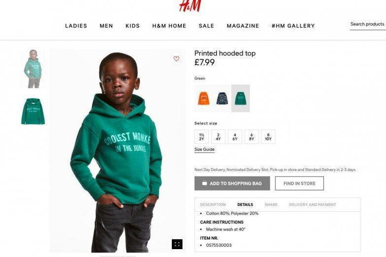 Get over it, says mother of child in 'racist' H&M hoodie