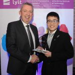 Mr Paul Hannigan President of Lyit presents a scholarship award to Edward Ng, Malaysian Students Societyat the Lyit Student Achievements Awards in the Radisson Hotel Letterkenny on Thursday night.Photo by Gerard McHugh