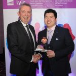 Mr Paul Hannigan President of Lyit presents a scholarship award to Royce Rui Tze Tan, Ultimate Frisbee, Malaysian & Badminton Societies at the Lyit Student Achievements Awards in the Radisson Hotel Letterkenny on Thursday night.Photo by Gerard McHugh