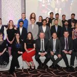 Members of the Lyit International Society who won the Award for Civic, Charity & Community Engagement 2019 at the Lyit Student Achievements Awards night in the Radission Hotel Letterkenny on Thursday night .Included in the photo are Paul Hannigan President Lyit ,Billy Bennett VP for Academic Affairs and Registrar ,Henry McGarvey VP for Finance and Corporate Services ,Paddy Gallagher Lyit Student Union Officer ,Josephine Wilson Lyit SU ,Vicki O Rourke Lyit SU ,Anne Marie Kelly.Photo by Gerard McHugh