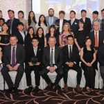 Members of the Lyit Malaysian  Society pictured at the Lyit Student Achievements Awards night in the Radission Hotel Letterkenny on Thursday night .Included in the photo are Paul Hannigan President Lyit ,Billy Bennett VP for Academic Affairs and Registrar ,Henry McGarvey VP for Finance and Corporate Services , ,Josephine Wilson Lyit SU ,Vicki O Rourke Lyit SU ,Anne Marie Kelly.Photo by Gerard McHugh