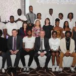 Members of the Lyit Africian  Society pictured at the Lyit Student Achievements Awards night in the Radission Hotel Letterkenny on Thursday night .Included in the photo are Paul Hannigan President Lyit ,Billy Bennett VP for Academic Affairs and Registrar ,Henry McGarvey VP for Finance and Corporate Services , ,Josephine Wilson Lyit SU ,Vicki O Rourke Lyit SU ,Anne Marie Kelly.Photo by Gerard McHugh