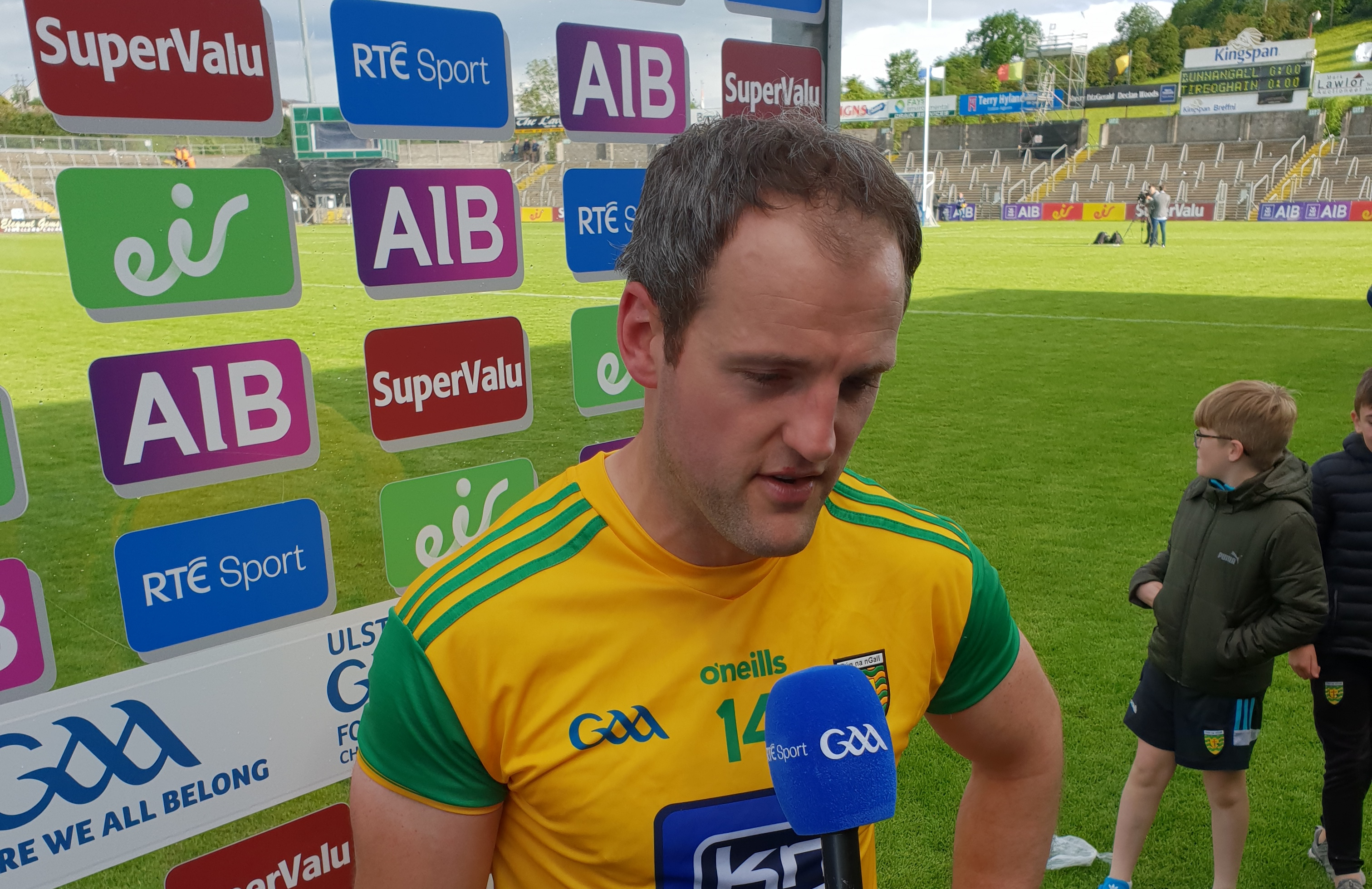 Delighted Murphy gives his reaction after great win
