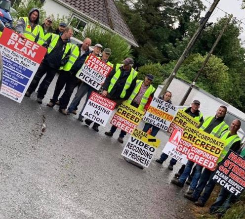 Highland Radio, Donegal, Beef Plan, Protest, Beef, News, Letterkenny